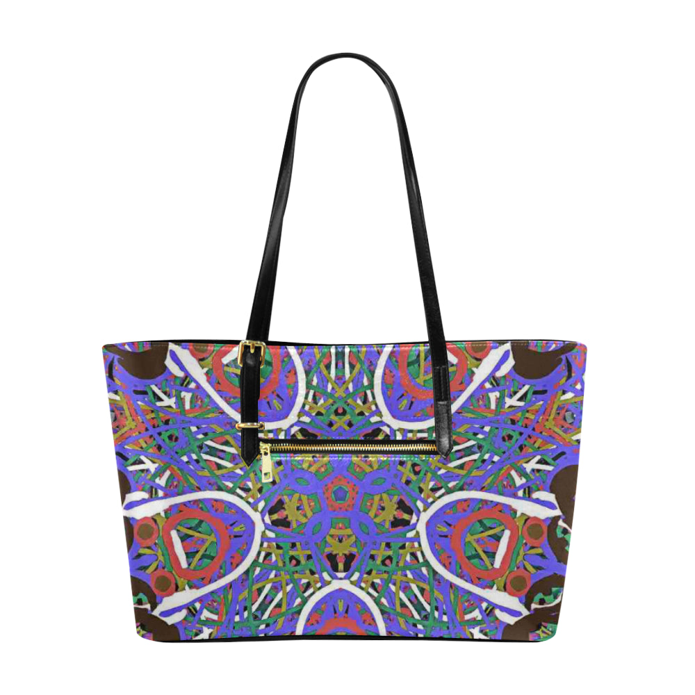 Thleudron Women's Happy Euramerican Tote Bag/Large (Model 1656) - Thleudron