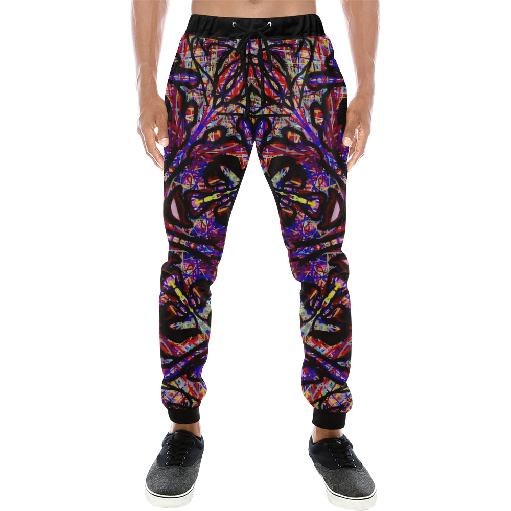 Thleudron Drum Men's All Over Print Sweatpants (Model L11) - Thleudron