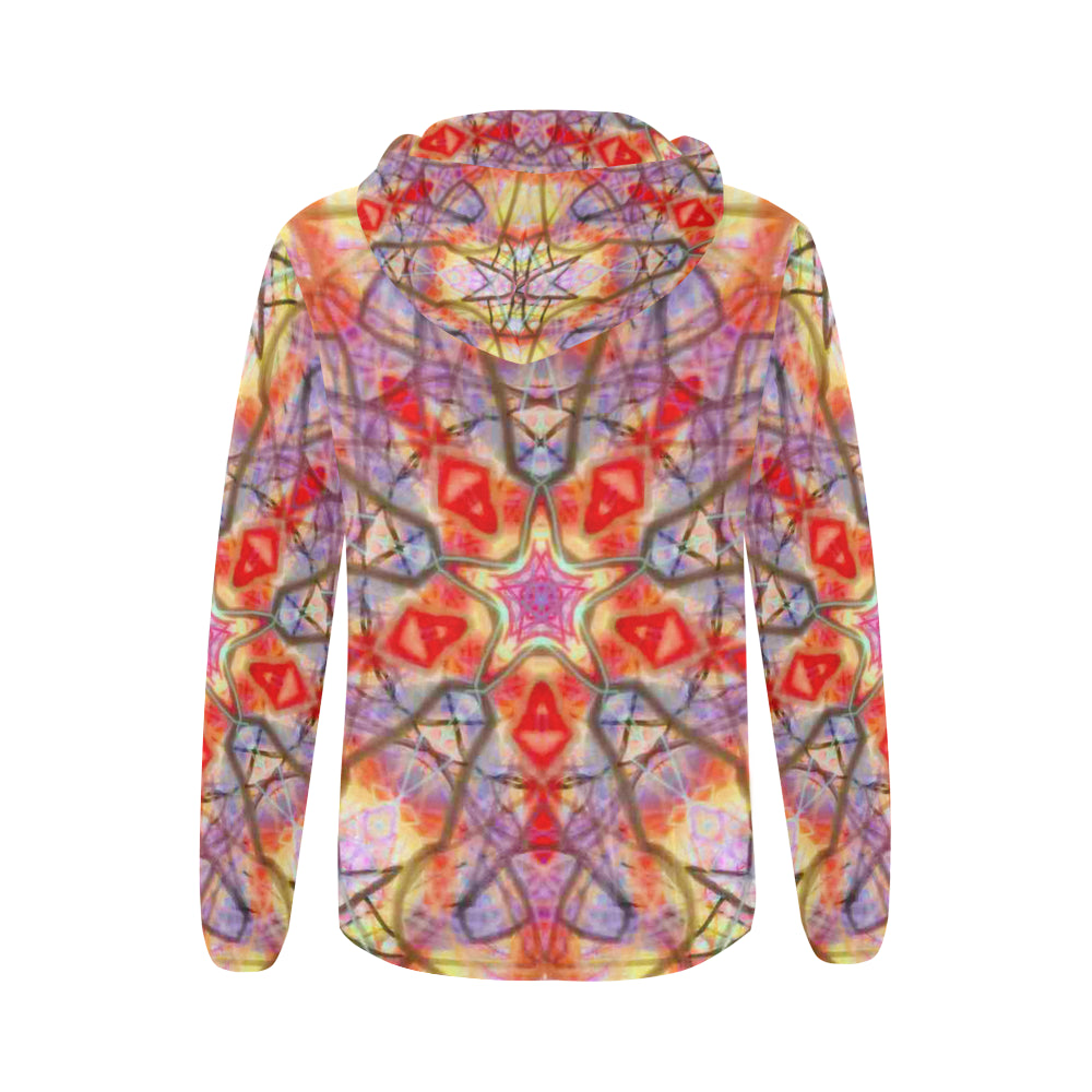Thleudron Eidos All Over Print Full Zip Hoodie for Women (Model H14) - Thleudron