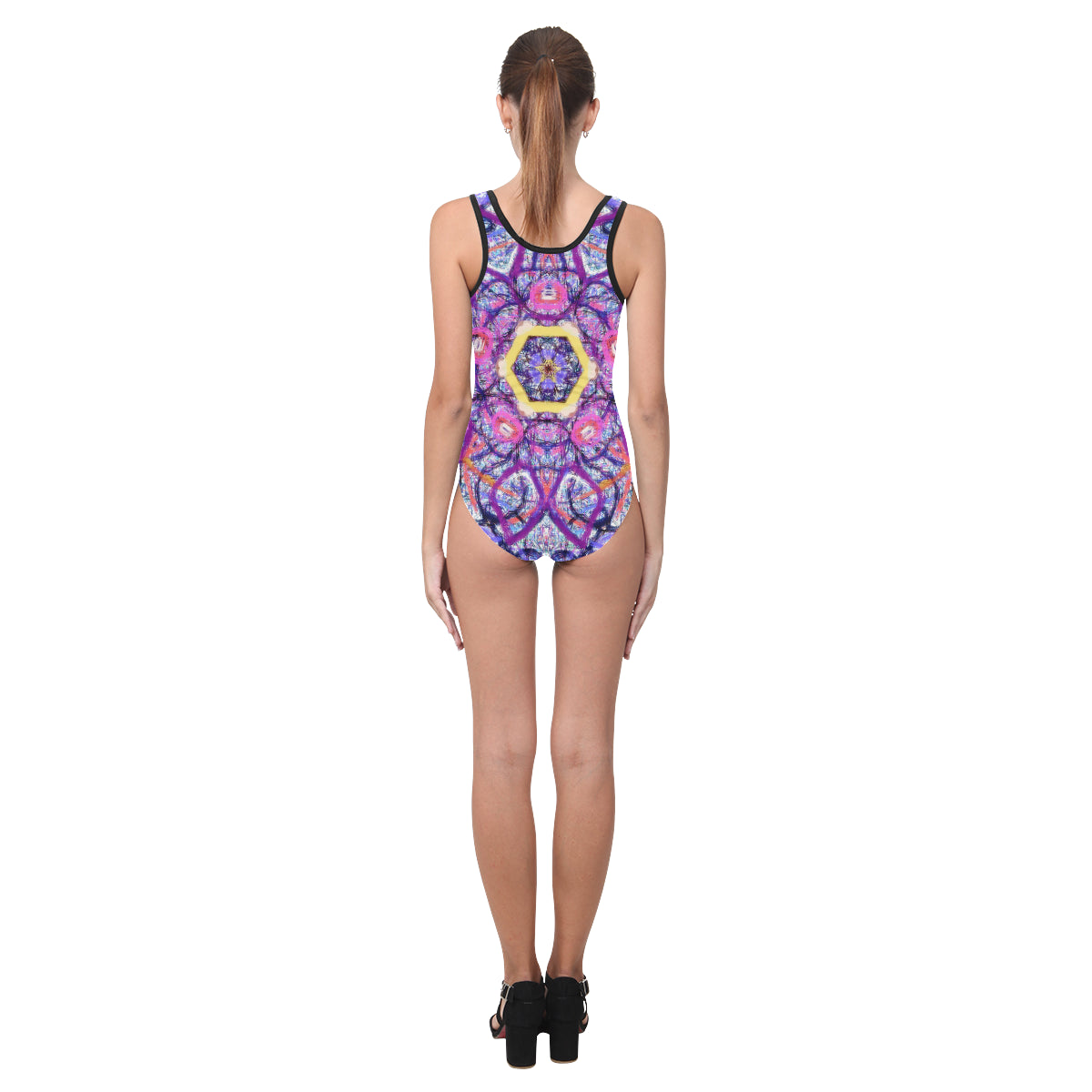 Thleudron Women's Royalty Vest One Piece Swimsuit (Model S04) - Thleudron