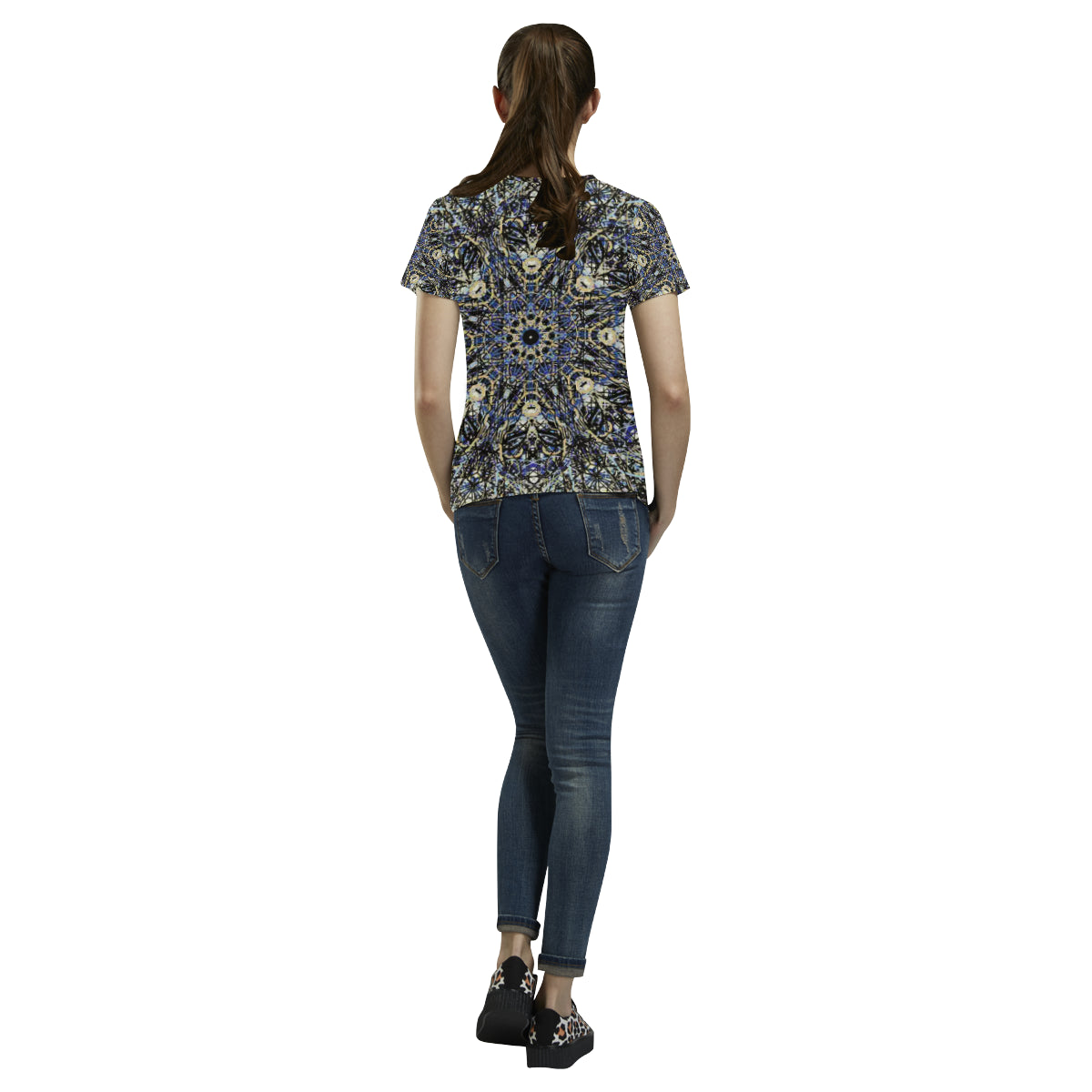 Thleudron Memory All Over Print T-Shirt for Women (USA Size) (Model T40) - Thleudron
