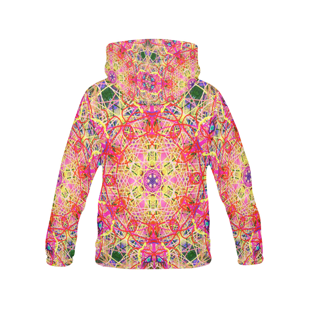 Thleudron Women's Roulette All Over Print Hoodie for Women (USA Size) (Model H13) - Thleudron