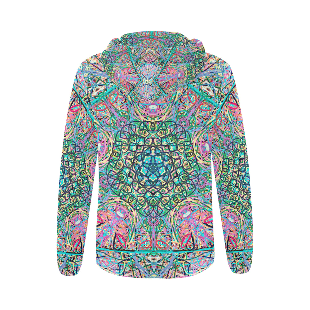 Thleudron Women's Mangshan All Over Print Full Zip Hoodie for Women (Model H14) - Thleudron