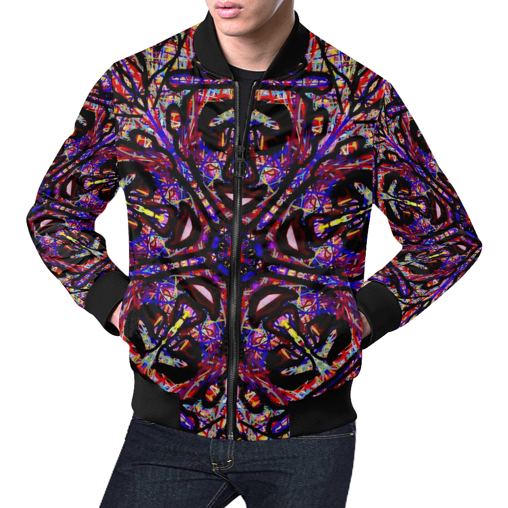 Thleudron Drum All Over Print Bomber Jacket for Men (Model H19)