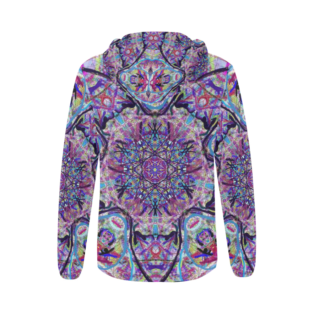 Thleudron Women's Dream Catcher All Over Print Full Zip Hoodie for Women (Model H14) - Thleudron