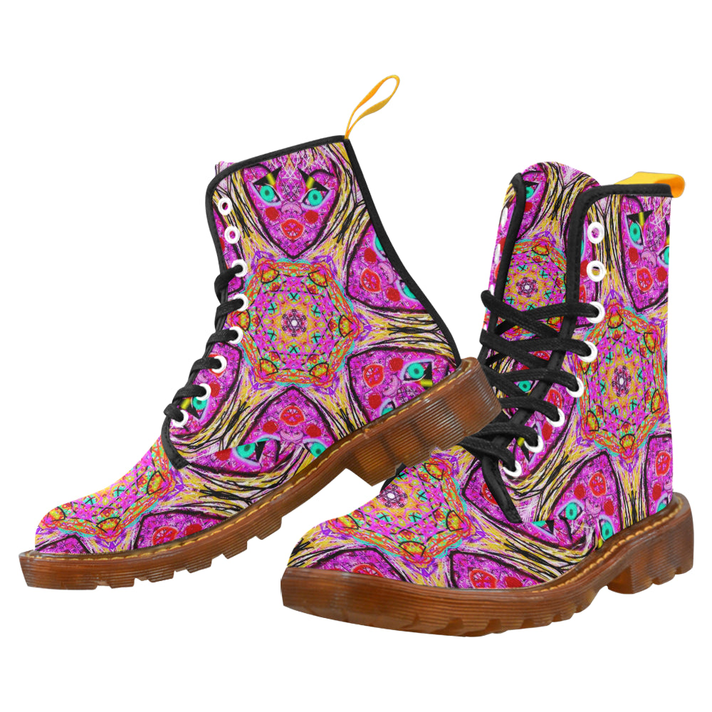 "Sacred Geometry ""Avatar"" by MAR from Thleudron Martin Boots For Women Model 1203H"