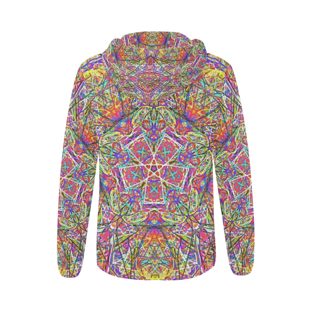 Thleudron Women's Wind Power All Over Print Full Zip Hoodie for Women (Model H14) - Thleudron