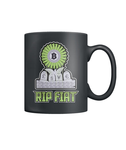 Bitcoin RIP Fiat Mug Cryptocurrency