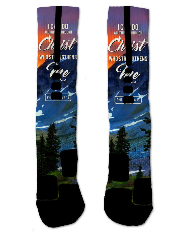 Philippians 4:13 NIKE ELITE Socks - Custom Designed Socks - Seth's Socks