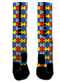 Custom Autism Awareness NIKE ELITE Socks - Seth's Socks