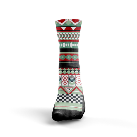 Custom Christmas Tribal Sweater Socks - Seth's Socks
