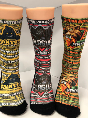 PIT, BUF, PHIL League Socks - Seth's Socks
