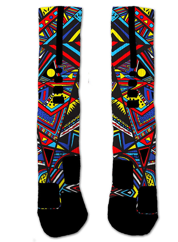 Nike Elite Autism Awareness Tribal NIKE ELITE Socks - Custom Designed Socks - Seth's Socks