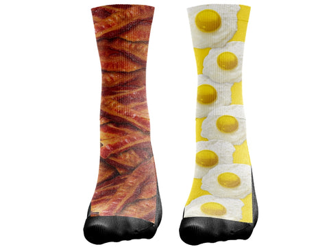 Custom Bacon & Eggs Socks - Seth's Socks