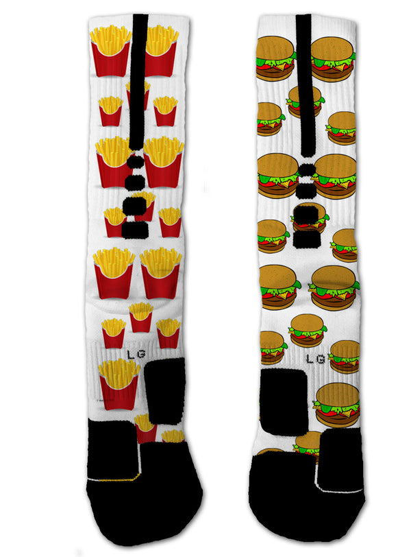 Burger & Fries Socks - Custom Designed Socks - Seth's Socks