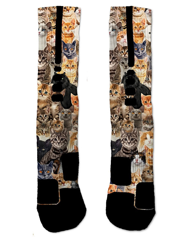 Kitty Cats NIKE ELITE Socks - Custom Designed Socks - Seth's Socks