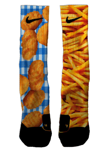 Chicken Nuggets & Fries NIKE ELITE Socks - Seth's Socks