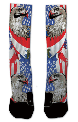 Nike Elite All American Eagle NIKE ELITE - Seth's Socks | Custom Designed Socks