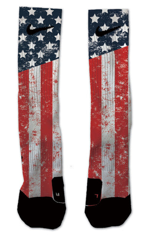 Nike Elite United States Flag NIKE ELITE - Seth's Socks | Custom Designed Socks