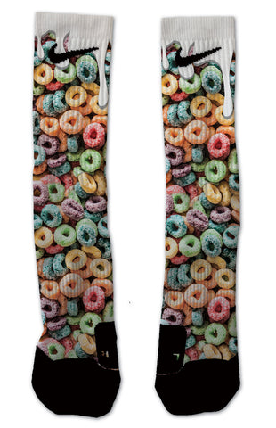 Custom Fruit loops NIKE ELITE Socks - Seth's Socks