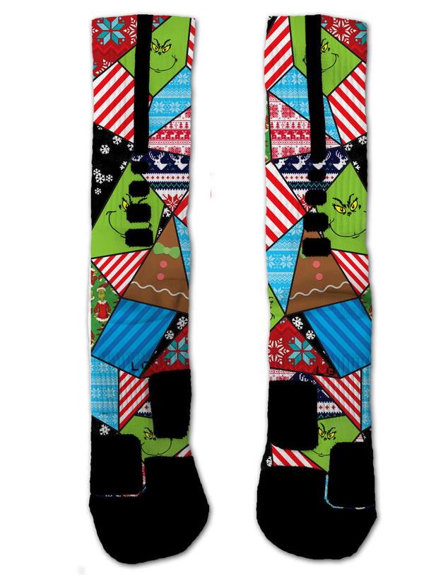 Nike Elite Grinch NIKE ELITE Socks - Custom Designed Socks - Seth's Socks