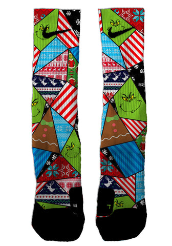 Custom Grinch NIKE ELITE Socks - Seth's Socks