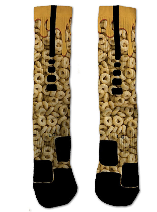 Nike Elite Honey Nut Cheerios NIKE ELITE Socks - Custom Designed Socks - Seth's Socks
