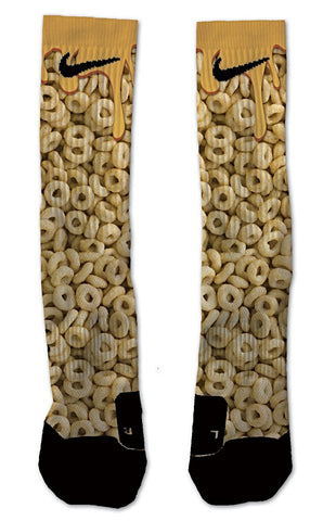 Nike Elite Honey Nut Cheerios NIKE ELITE - Seth's Socks | Custom Designed Socks
