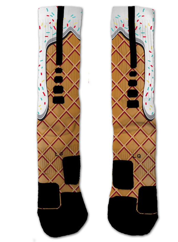 Ice-cream NIKE ELITE Socks - Custom Designed Socks - Seth's Socks