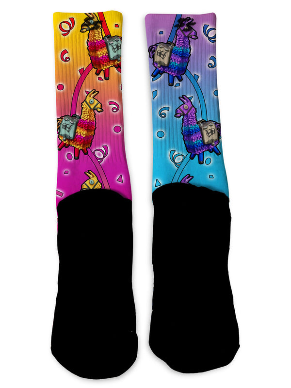 Llama Battle Royale Socks - Custom Designed Socks - Seth's Socks
