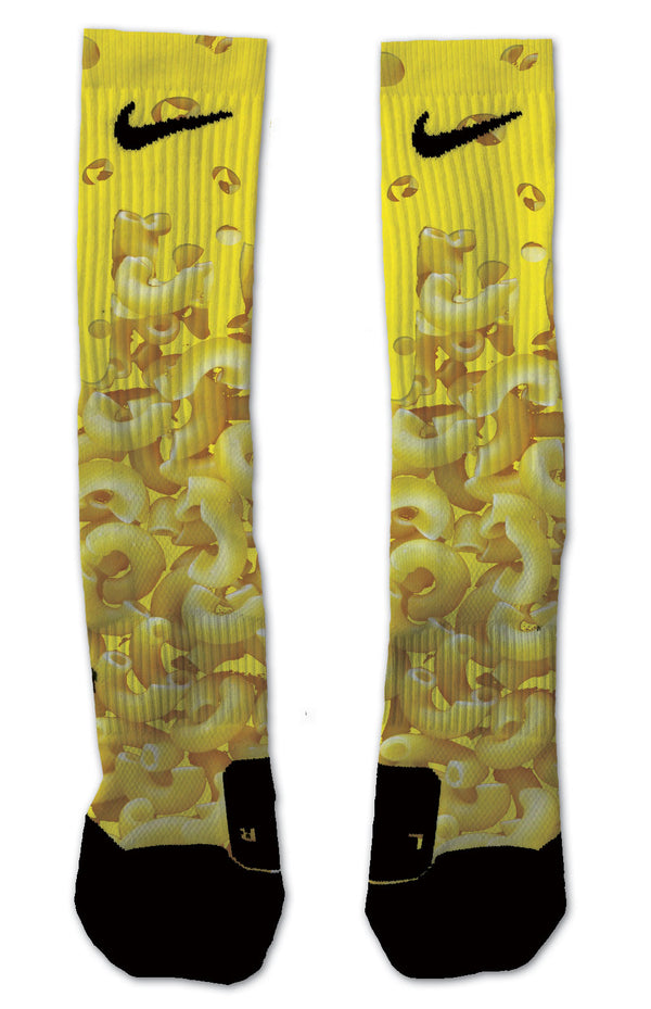 Macaroni & Cheese NIKE ELITE Socks - Custom Designed Socks - Seth's Socks