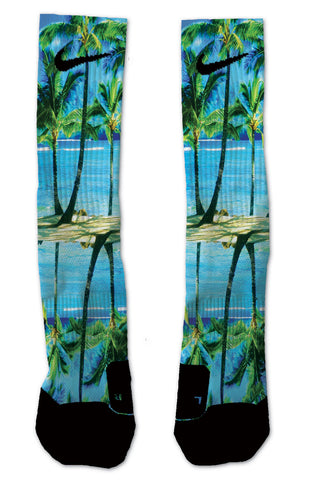 Custom Tropical Ocean NIKE ELITE Socks - Seth's Socks