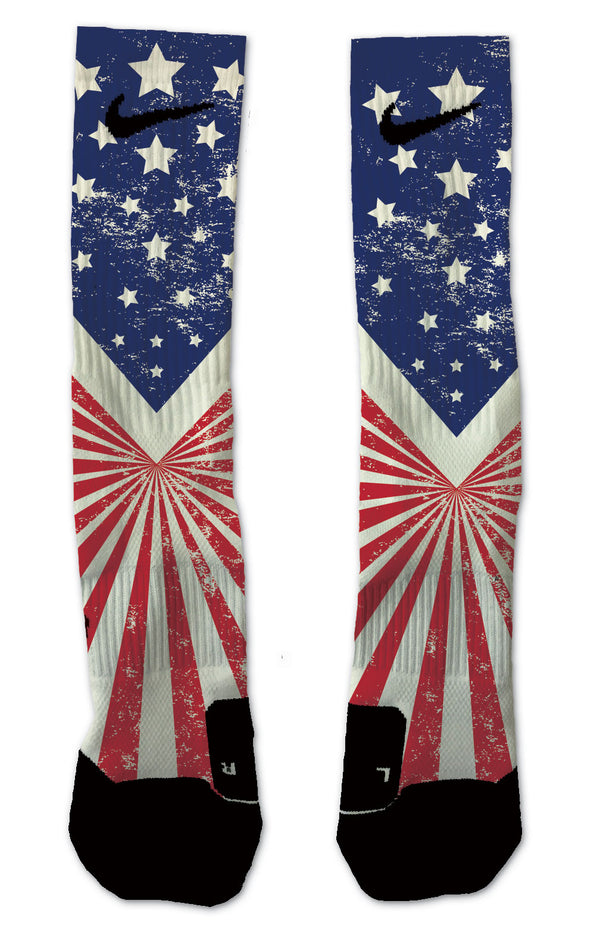 U.S Stripes & Stars Socks - Custom Designed Socks - Seth's Socks