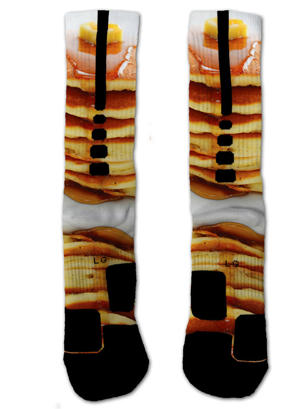 Pancakes NIKE ELITE Socks - Custom Designed Socks - Seth's Socks
