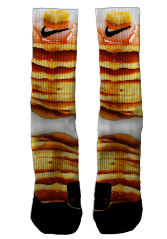 Pancakes NIKE ELITE - Seth's Socks | Custom Designed Socks