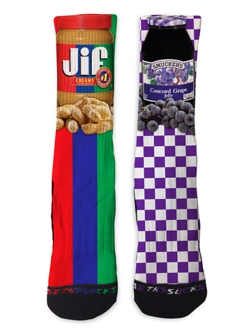 PB&J Patterned - Seth's Socks | Custom Designed Socks
