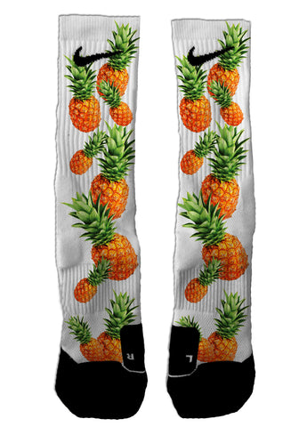 Custom Pineapple NIKE ELITE Socks - Seth's Socks