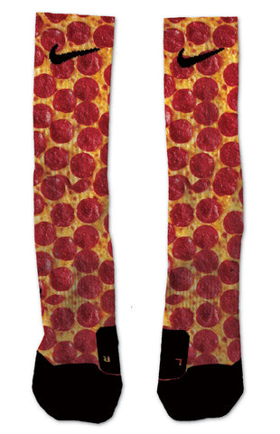 Custom Pizza NIKE ELITE Socks - Seth's Socks