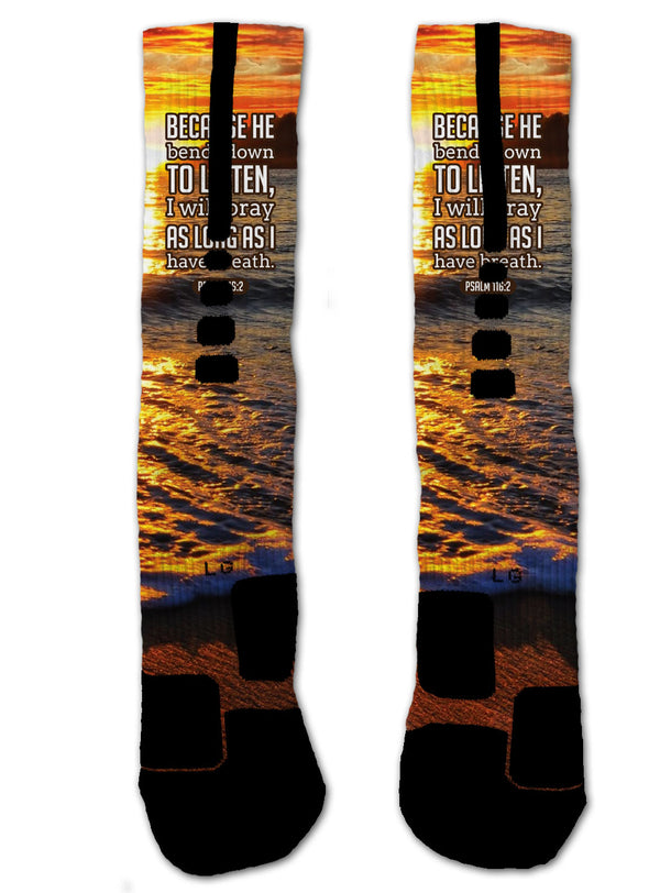 Nike Elite Psalm 116:2 NIKE ELITE Socks - Custom Designed Socks - Seth's Socks