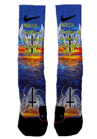 Nike Elite Psalms 37:23-24 NIKE ELITE - Seth's Socks | Custom Designed Socks