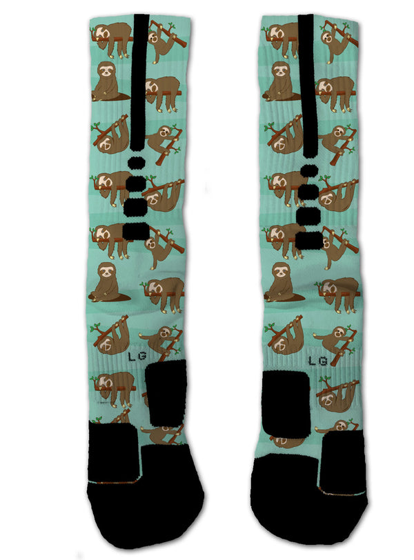 Nike Elite Sloth NIKE ELITE Socks - Custom Designed Socks - Seth's Socks