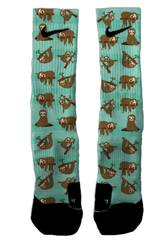Sloth NIKE ELITE Socks - Seth's Socks