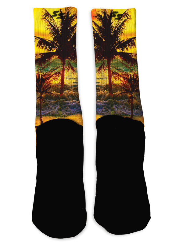 Tropical Sunset Socks - Custom Designed Socks - Seth's Socks