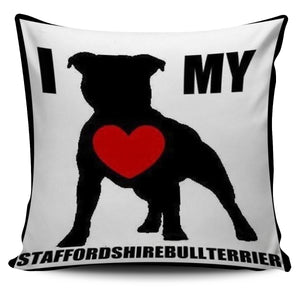 Cute staffy pillow
