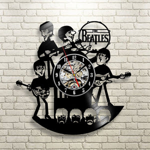 AWESOME THE BEATLES VINYL WALL CLOCK