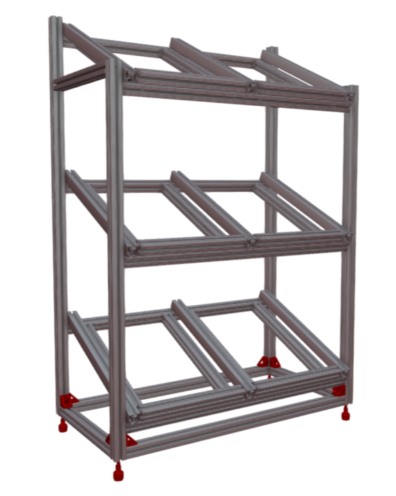 Flow Rack, T-Slot, Anti-Vibration Feet
