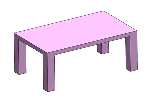 Table, Toy, Rectangular