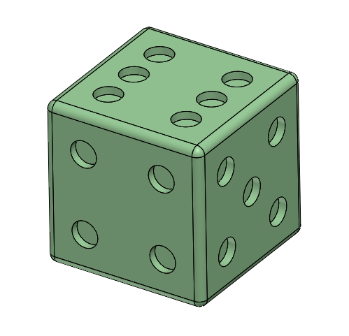Dice, Cube, Right Hand