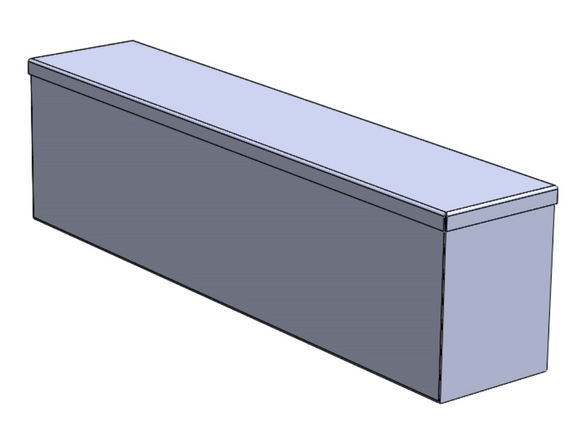 Box, Sheet Metal, Rectangular, Lift-Off Lid