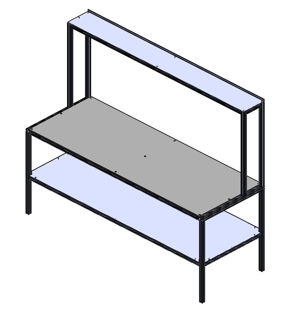 Workbench, T-Slot, Low Shelf, Top Shelf